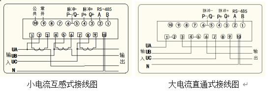 三相导轨式电能表的安装及接线