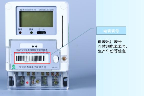 单相费控智能电能表 电表表号