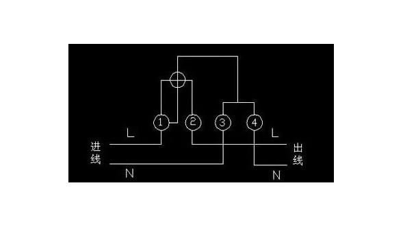 家用单相电能表怎么接线?