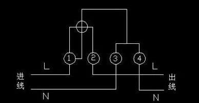 家用单相电能表接线图