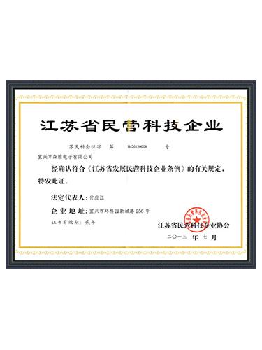 森维电子-江苏省民营科技企业