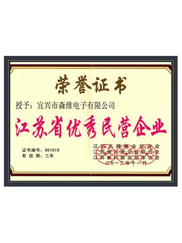 森维电子-江苏省优秀民营企业