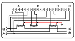 分表计电终端接线图