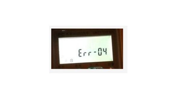 智能电表错误代码err -04代表什么意思?