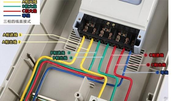 三相四线智能电表如何接线?